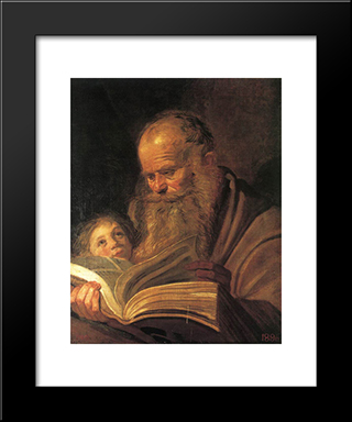 St. Matthew: Modern Custom Black Framed Art Print by Frans Hals