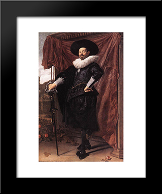 Willem Van Heythuyzen: Modern Custom Black Framed Art Print by Frans Hals