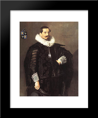 Jacob Pietersz Olycan: Modern Custom Black Framed Art Print by Frans Hals