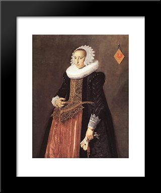 Anetta Hanemans: Modern Custom Black Framed Art Print by Frans Hals