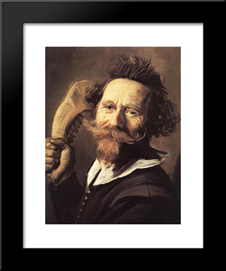Verdonck: Modern Custom Black Framed Art Print by Frans Hals