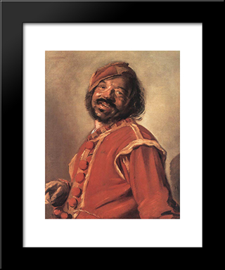 Mulatto (So'Called): Modern Custom Black Framed Art Print by Frans Hals