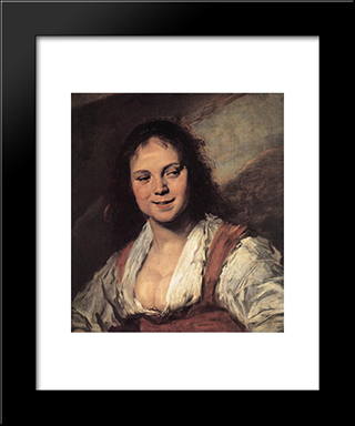 Gypsy Girl: Modern Custom Black Framed Art Print by Frans Hals