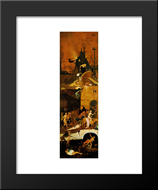 Haywain, Right Wing Of The Triptych: Modern Custom Black Framed Art Print by Hieronymus Bosch