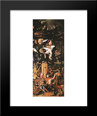 Arden Of Earthly Delights, Right Wing: Modern Custom Black Framed Art Print by Hieronymus Bosch