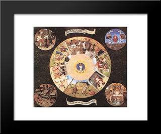 The Seven Deadly Sins: Modern Custom Black Framed Art Print by Hieronymus Bosch