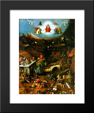 Last Judgement, Central Panel Of The Triptych: Modern Custom Black Framed Art Print by Hieronymus Bosch