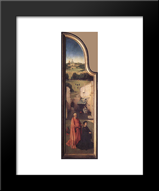 St. Peter With The Donor: Modern Custom Black Framed Art Print by Hieronymus Bosch