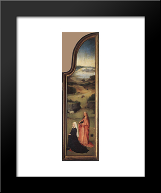 St. Agnes With The Donor: Modern Custom Black Framed Art Print by Hieronymus Bosch