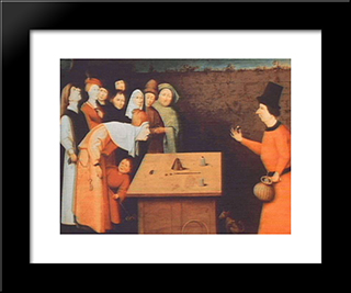The Magician: Modern Custom Black Framed Art Print by Hieronymus Bosch