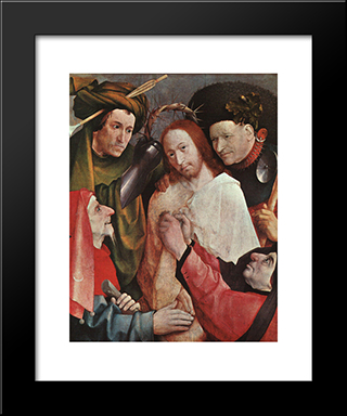 Christ Mocked: Modern Custom Black Framed Art Print by Hieronymus Bosch