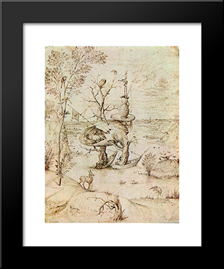 The Man'Tree: Modern Custom Black Framed Art Print by Hieronymus Bosch