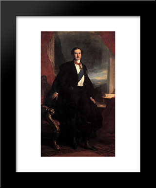 Prince Albert: Modern Custom Black Framed Art Print by Franz Xaver Winterhalter