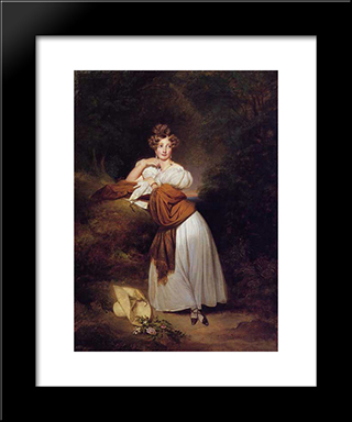 Sophie Guillemette, Grand Duchess Of Baden: Modern Custom Black Framed Art Print by Franz Xaver Winterhalter
