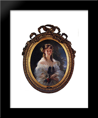 Princess Sophie Troubetskoi, Duchess De Morny: Modern Custom Black Framed Art Print by Franz Xaver Winterhalter