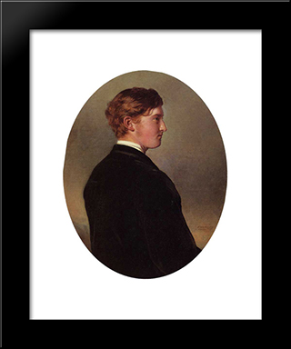 William Douglas Hamilton, 12Th Duke Of Hamilton: Modern Custom Black Framed Art Print by Franz Xaver Winterhalter