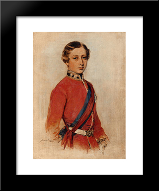 Albert Edward, Prince Of Wales: Modern Custom Black Framed Art Print by Franz Xaver Winterhalter