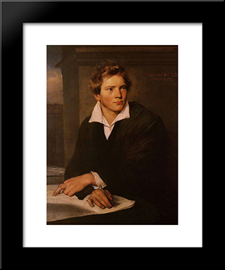 Portrait Of A Young Architect: Modern Custom Black Framed Art Print by Franz Xaver Winterhalter
