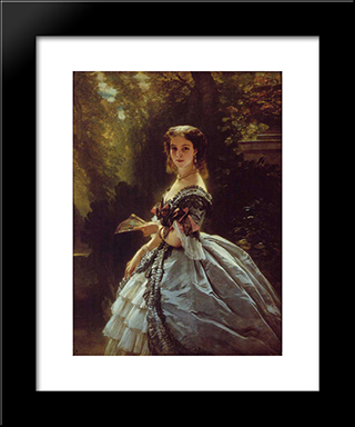 Princess Elizabeth Esperovna Belosselsky'Belosenky, Princess Troubetskoi: Modern Custom Black Framed Art Print by Franz Xaver Winterhalter