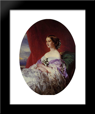 The Empress Eugenie: Modern Custom Black Framed Art Print by Franz Xaver Winterhalter