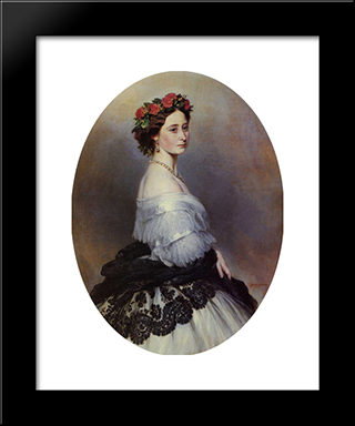 Princess Alice: Modern Custom Black Framed Art Print by Franz Xaver Winterhalter