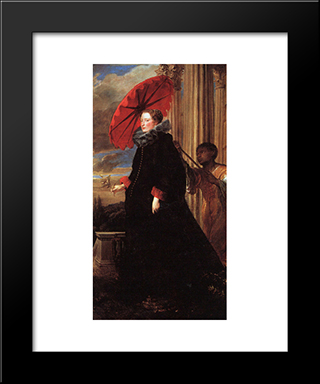 Marchesa Elena Grimaldi: Modern Custom Black Framed Art Print by Anthony van Dyck