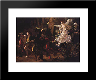 The Thorny Path: Modern Custom Black Framed Art Print by Thomas Couture