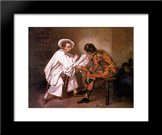 Pierrot The Politician: Modern Custom Black Framed Art Print by Thomas Couture