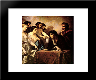 The Love Of Gold: Modern Custom Black Framed Art Print by Thomas Couture