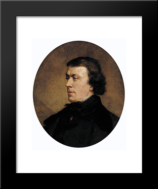 Portrait Of Philip Ricord: Modern Custom Black Framed Art Print by Thomas Couture