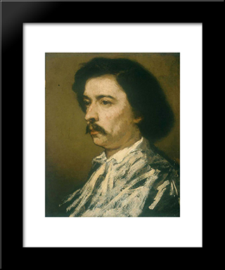 Portrait Of The Artist: Modern Custom Black Framed Art Print by Thomas Couture