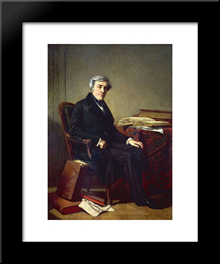 Jules Michelet: Modern Custom Black Framed Art Print by Thomas Couture