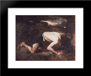 The Fugitive: Modern Custom Black Framed Art Print by Thomas Couture