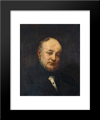 Portrait Of The Architect Emile Gilbert: Modern Custom Black Framed Art Print by Thomas Couture