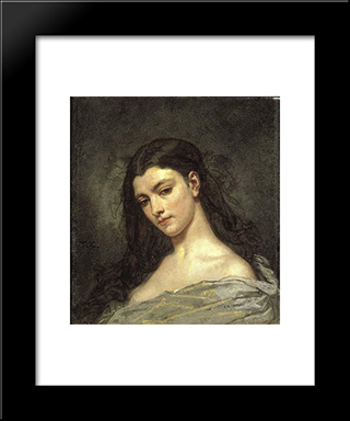 Female Head: Modern Custom Black Framed Art Print by Thomas Couture