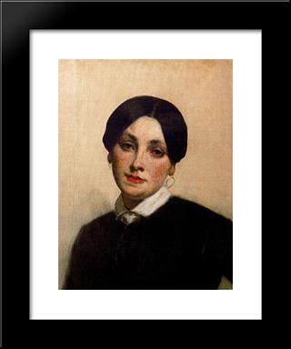 Portrait Of Miss Florentin: Modern Custom Black Framed Art Print by Thomas Couture
