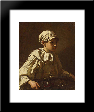 The Little Confectioner: Modern Custom Black Framed Art Print by Thomas Couture