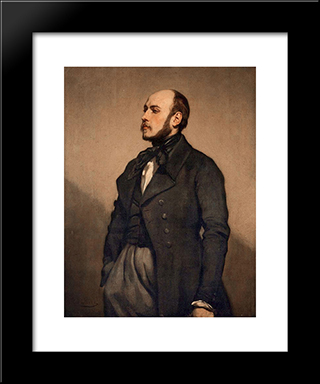 Portrait Of A Man: Modern Custom Black Framed Art Print by Thomas Couture