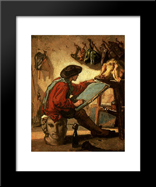A Realist: Modern Custom Black Framed Art Print by Thomas Couture
