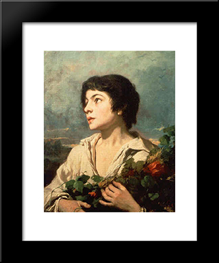 Return From The Fields: Modern Custom Black Framed Art Print by Thomas Couture