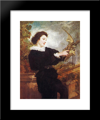 The Falconer: Modern Custom Black Framed Art Print by Thomas Couture