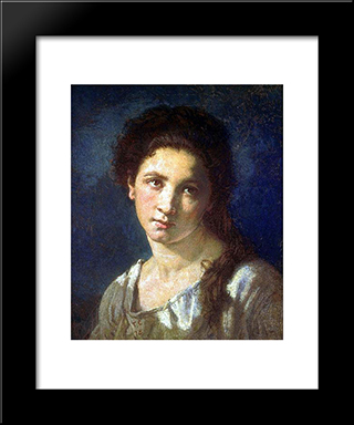 The Artist'S Daughter: Modern Custom Black Framed Art Print by Thomas Couture