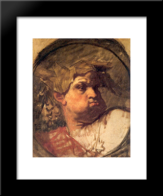 Head Of An Epochal King: Modern Custom Black Framed Art Print by Thomas Couture