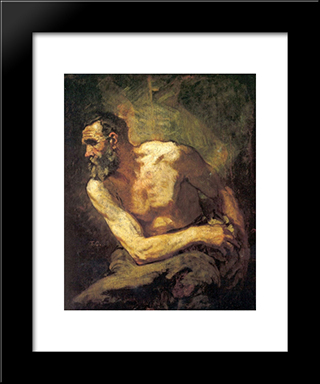 The Miser: Modern Custom Black Framed Art Print by Thomas Couture