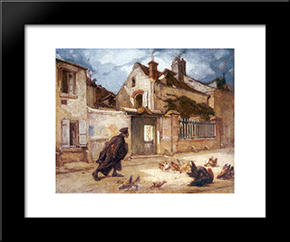 A Judge Going To Court: Modern Custom Black Framed Art Print by Thomas Couture