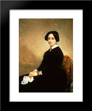 Baronne D'Astier De La Vigerie: Modern Custom Black Framed Art Print by Thomas Couture