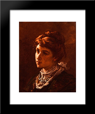 Madame De Brunecke: Modern Custom Black Framed Art Print by Thomas Couture