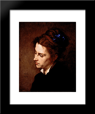 Head Of A Woman: Modern Custom Black Framed Art Print by Thomas Couture