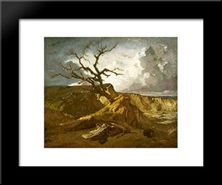 Landscape Near The Sea: Modern Custom Black Framed Art Print by Thomas Couture
