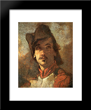 French Volunteer: Modern Custom Black Framed Art Print by Thomas Couture